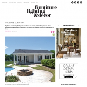 "Furniture Lighting & Decor Magazine Features Home Care Suites... ""The Suite Solution"""